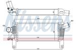 Chłodnica powietrza doładowującego - intercooler NISSENS 96622 NISSENS 96622