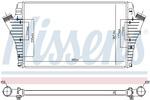 Chłodnica powietrza doładowującego - intercooler NISSENS 96647 NISSENS 96647