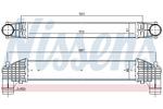 Chłodnica powietrza doładowującego - intercooler NISSENS 96750 NISSENS 96750