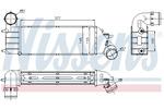Chłodnica powietrza doładowującego - intercooler NISSENS 96766 NISSENS 96766