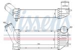 Chłodnica powietrza doładowującego - intercooler NISSENS 96790 NISSENS 96790
