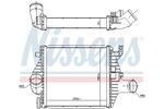 Chłodnica powietrza doładowującego - intercooler NISSENS 96894 NISSENS 96894