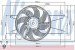 Wentylator chłodnicy silnika NISSENS 85029