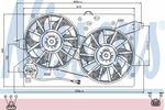 Wentylator chłodnicy silnika NISSENS 85483 NISSENS 85483