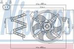 Wentylator chłodnicy silnika NISSENS 85488 NISSENS 85488