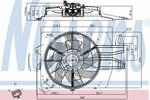 Wentylator chłodnicy silnika NISSENS 85537 NISSENS 85537