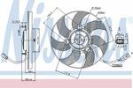 Wentylator chłodnicy silnika NISSENS 85680 NISSENS 85680