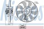 Wentylator chłodnicy silnika NISSENS 85684