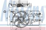 Wentylator chłodnicy silnika NISSENS 85693 NISSENS 85693