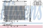 Chłodnica klimatyzacji - skraplacz<br>NISSENS<br>94614