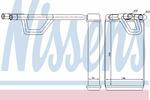 Nagrzewnica ogrzewania kabiny NISSENS 72209