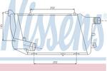 Chłodnica powietrza doładowującego - intercooler NISSENS 96676