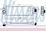 Chłodnica powietrza doładowującego - intercooler NISSENS 96775