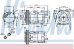Kompresor klimatyzacji NISSENS 89251