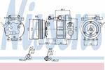 Kompresor klimatyzacji NISSENS 89278