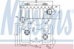 Chłodnica oleju silnikowego NISSENS 90582 NISSENS 90582