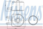Chłodnica oleju silnikowego NISSENS 90603 NISSENS 90603