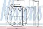 Chłodnica oleju silnikowego NISSENS 90622