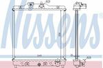 Chłodnica wody<br>NISSENS<br>63309A