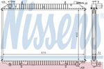 Chłodnica wody NISSENS 62908A