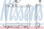 Chłodnica wody NISSENS 67098