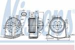 Wentylator wnętrza - dmuchawa NISSENS 87038