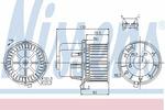 Wentylator wnętrza - dmuchawa NISSENS 87061