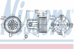 Wentylator wnętrza - dmuchawa NISSENS 87090