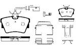 Klocki hamulcowe - komplet NK 224747 NK 224747