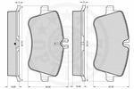 Klocki hamulcowe - komplet OPTIMAL  10467 (Oś przednia)-Foto 3