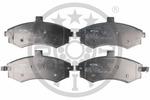 Klocki hamulcowe - komplet OPTIMAL  12219 (Oś przednia)