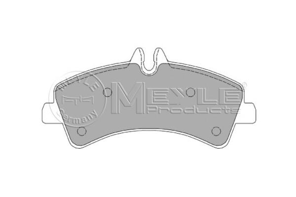 Klocki hamulcowe - komplet MEYLE (0252921720)