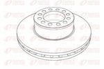 Tarcza hamulcowa REMSA Heavy Duty Brake Disc NCA1188.20 (Oś przednia) (Oś tylna)