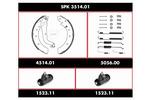 Zestaw do hamulców, hamulce bębnowe REMSA SPK 3514.01