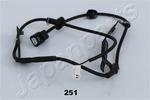 Czujnik prędkości obrotowej koła (ABS lub ESP) JAPANPARTS  ABS-251 (Oś tylna strona prawa)