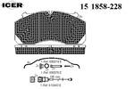 Klocki hamulcowe - komplet ICER  151858-228
