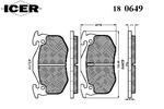 Klocki hamulcowe - komplet ICER  180649