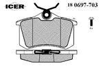 Klocki hamulcowe - komplet ICER  180697-703