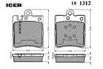 Klocki hamulcowe - komplet ICER  181312