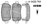 Klocki hamulcowe - komplet ICER  181622-703
