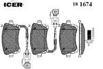 Klocki hamulcowe - komplet ICER 181674 ICER 181674
