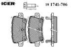 Klocki hamulcowe - komplet ICER  181741-706
