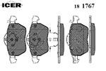 Klocki hamulcowe - komplet ICER  181767