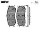 Klocki hamulcowe - komplet ICER  181798