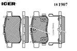 Klocki hamulcowe - komplet ICER  181907