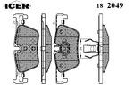 Klocki hamulcowe - komplet ICER  182049