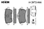 Klocki hamulcowe - komplet ICER  182072-066