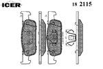 Klocki hamulcowe - komplet ICER  182115