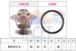 Termostat układu chłodzenia FACET 7.8612