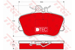 Klocki hamulcowe - komplet TRW DTEC COTEC GDB1094DTE